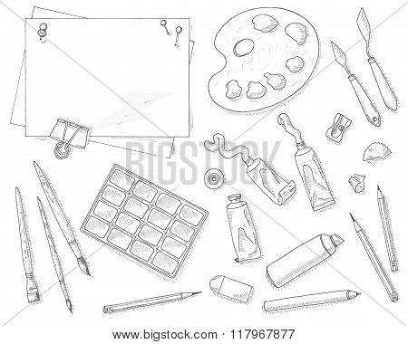 Art tools set