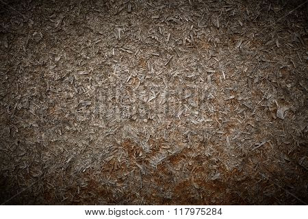 Wood shavings old sawdust background - stock image