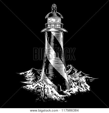 Lighthouse Vintage Style