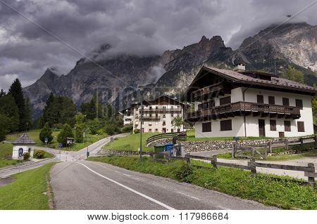 San Vito di Cadore in Dolomites Mountains, Italy, Europe