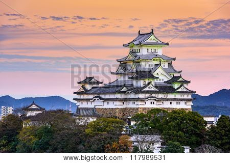 Himeji, Japan at the castle.