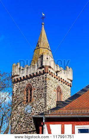 The Jakobuskirche - landmark of the city Bruchkoebel, Germany