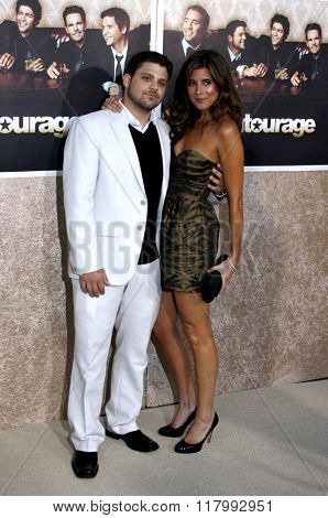 Jerry Ferrara and Jamie-Lynn Sigler at the HBO's Official Premiere of