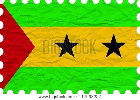 Wrinkled Paper Sao Tome And Principe Stamp