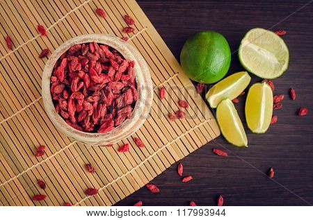 Healthy Goji Berries With Lime