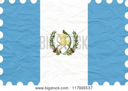 Wrinkled Paper Guatemala Stamp