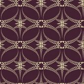 Religion seamless pattern. Laurel wreath, lace view texture with cross. Ceremonial, funeral background. Swirl stylized ornament. Brown, beige colored. Vector poster