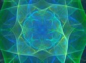 abstract blue and green silky design; fractal image poster