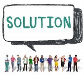 Solution Solving Problem Resolve Strategy Concept poster