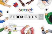Antioxidants Nutrition Health Natural Concept poster