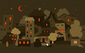 Night City. Vector