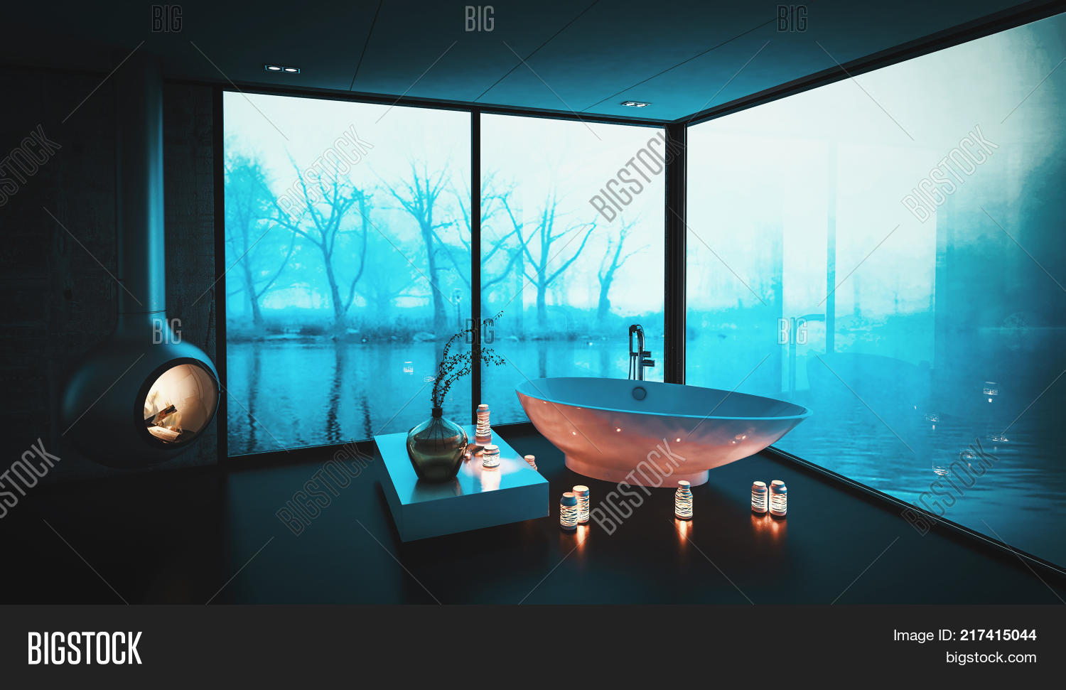 Bathtub Surrounded By Image & Photo (Free Trial) | Bigstock