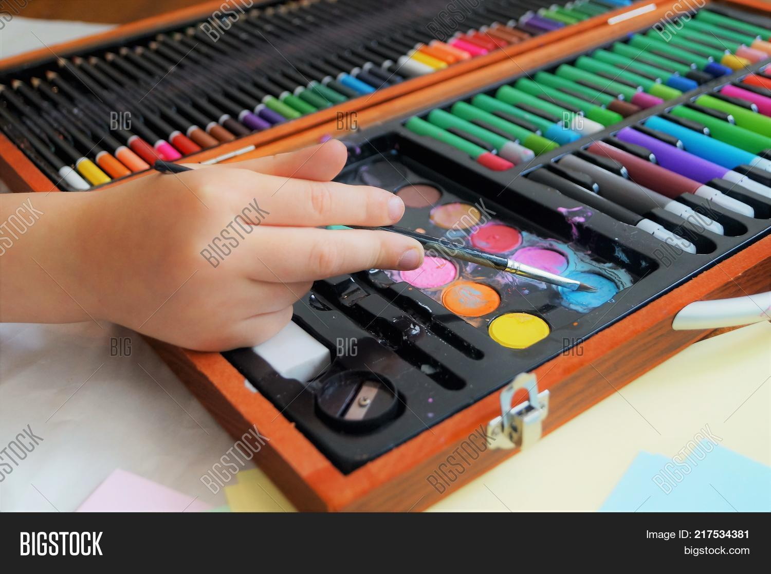 Child Painting Picture Image & Photo (Free Trial) | Bigstock
