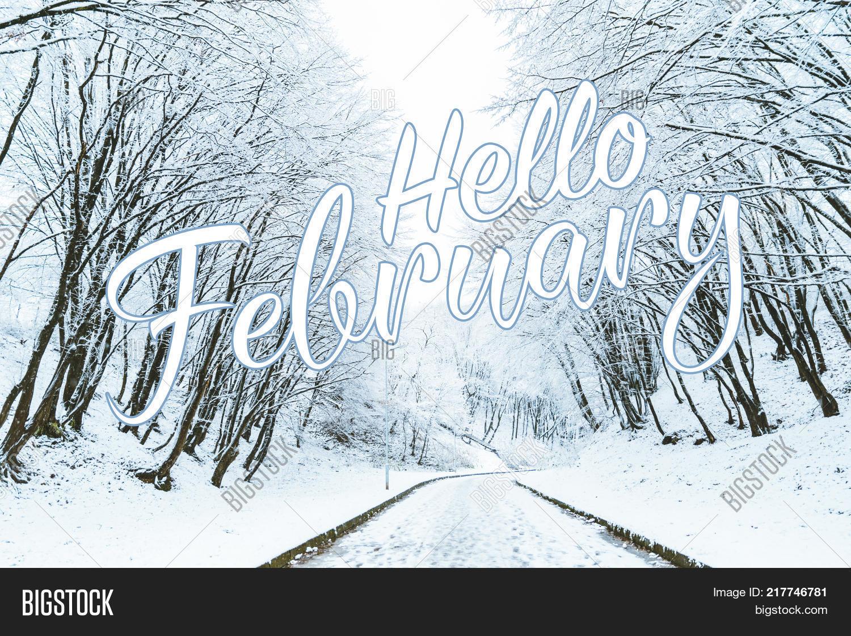 Hello February Inter Image & Photo (Free Trial)   Bigstock