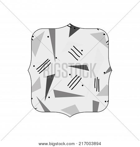 grayscale quadrate with style geometric figure background vector illustration