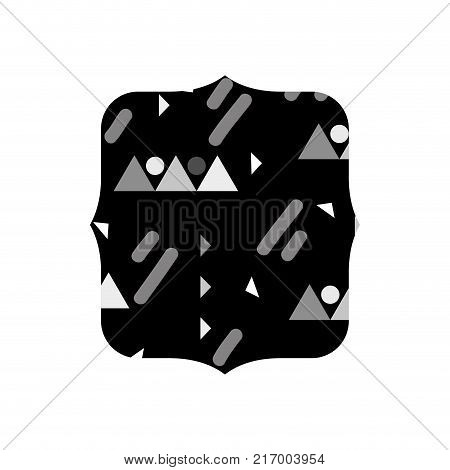 grayscale quadrate with graphic style design background vector illustration