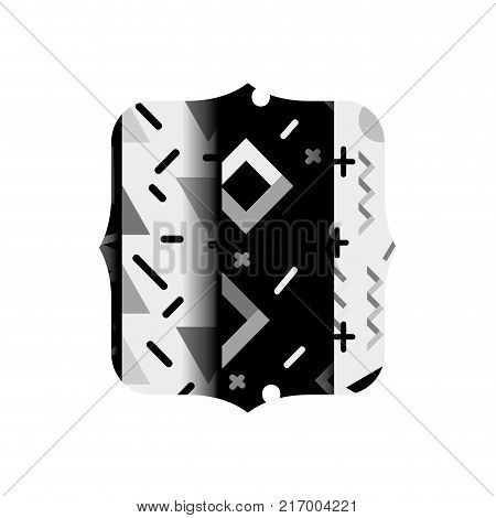grayscale quadrate with graphic style abstract background vector illustration