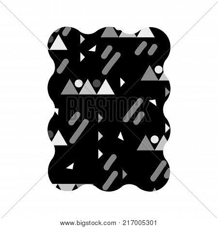 contour grayscale rectangle with graphic style design background vector illustration