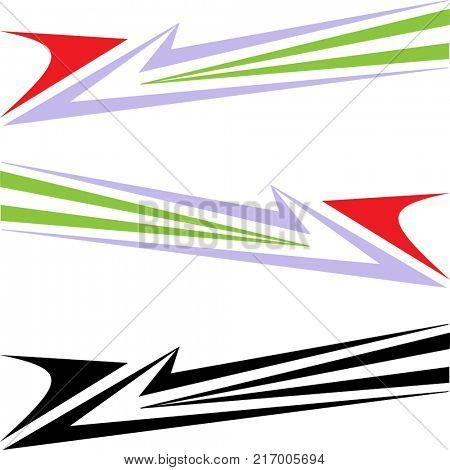Vehicle Graphics, Stripe : Vinyl Ready Raster Art
