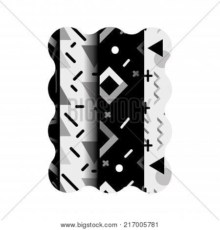 contour grayscale rectangle with graphic style abstract background vector illustration