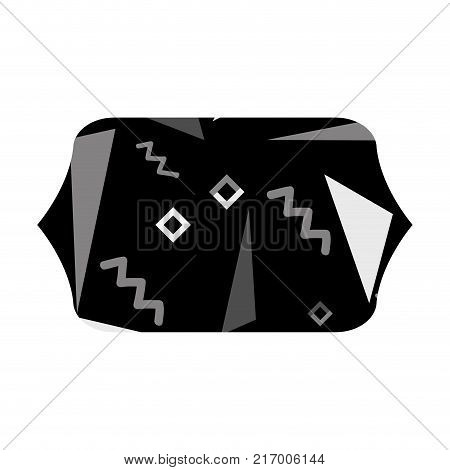 grayscale contour rectangle with memphis style abstract background vector illustration