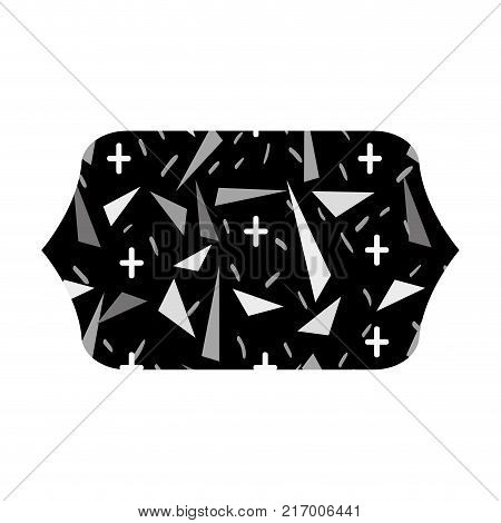 grayscale contour rectangle with geometric graphic style background vector illustration