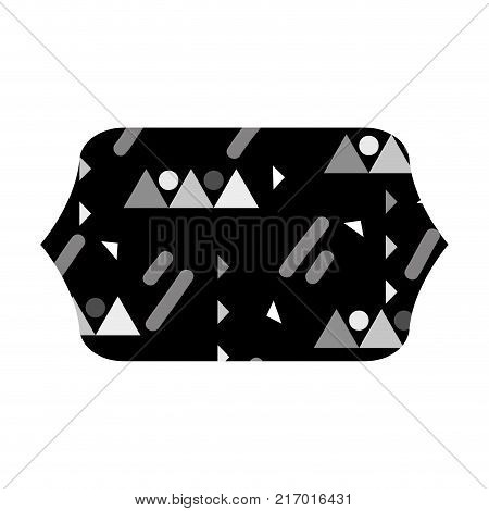 grayscale contour rectangle with graphic style design background vector illustration