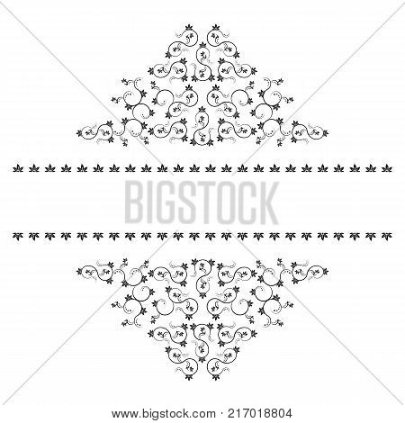 Frame with monograms for design and decorate. Vector Illustration.