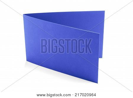 Purple greeting card on a white background