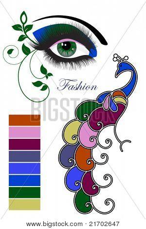Fashion eye  imitating peacock