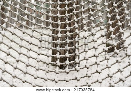 climb net rope close up background and textures