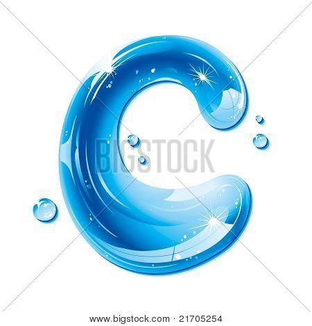 ABC series - Water Liquid Letter - Capital C