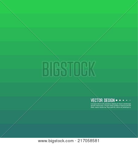 Abstract background with rhythmic rectangular horizontal stripes. Transition and gradation of color. Vector blend gradient for illustrations, covers and flyers. Color green turquoise lime green.