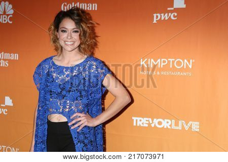 LOS ANGELES - DEC 3:  Tatiana Maslany at the 2017 TrevorLIVE Los Angeles at Beverly Hilton Hotel on December 3, 2017 in Beverly Hills, CA