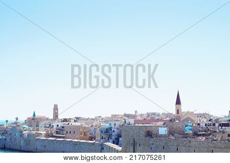 View of the old city of Acre (Akko Acco) Israel