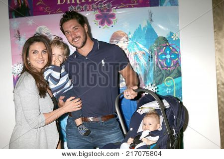 LOS ANGELES - NOV 26:  Nadia Bjorlin, Torin Mathias Turnbull, Grant Turnbull, Viggo Sebastian Turnbull at Amelie Bailey 2nd Birthday Party at Private Residence on November 26, 2017 in Studio City, CA