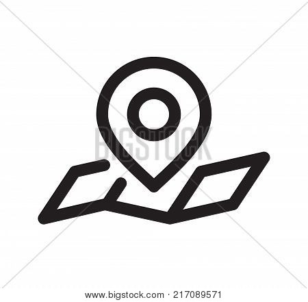 Location Pin. Simple Vector Illustration Of A Straight Location Pin Marking A Destination On Map.
