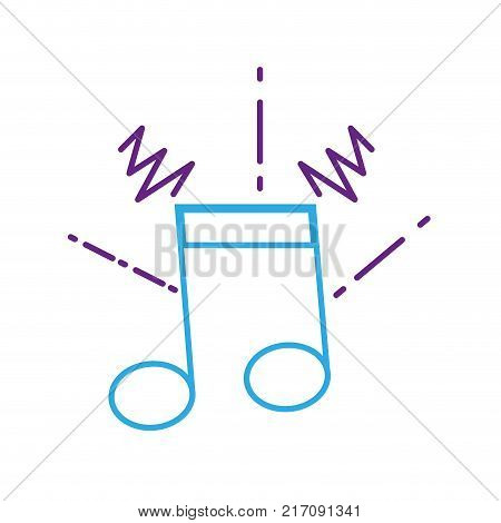 color line musical note sign to rhythm sound vector illustration