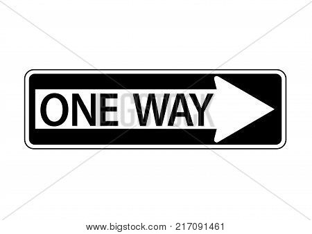 One Way Information Vector Photo Free Trial Bigstock