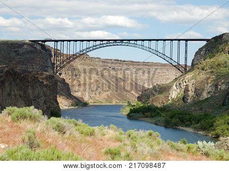 Perrine Bridge Over Snake River