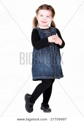 Cute Toddler Girl With Hands Folded