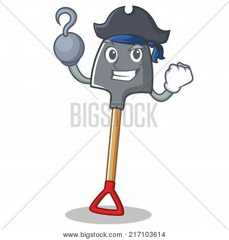 Pirate shovel character cartoon style vector illustration