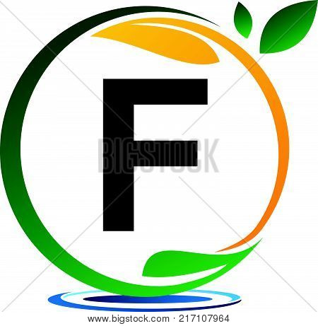 Green Project Solution Letter F Logo Design Template Vector