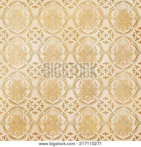 Old paper background with old-fashioned floral patterns.