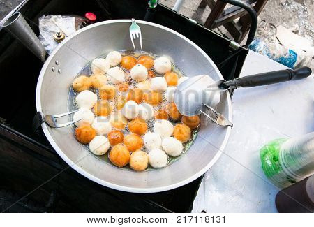Fried sweets is a familia food , Mania city. Philippines.