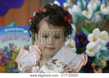 Belarus the city of Gomel 03.06.2016. Graduate of kindergarten.A graduate of a kindergarten