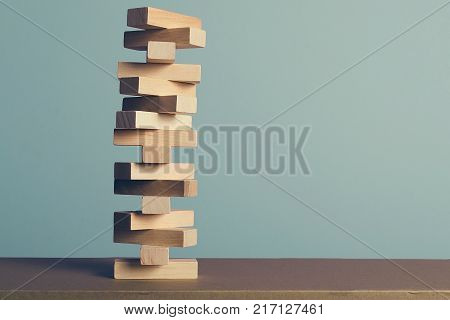 Wooden puzzles, stop the destruction by hand