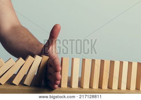 Wooden puzzles sing a stop hand barrier