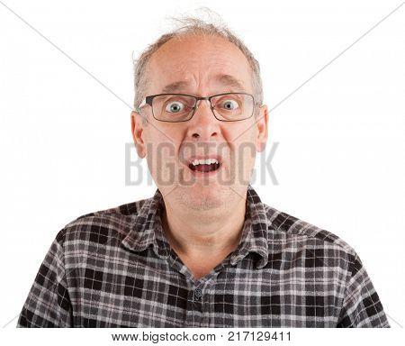 Man with dumbstruck goofy look