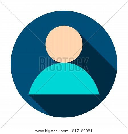 Anonymous User Circle Icon. Vector Illustration Flat Style with Long Shadow. poster